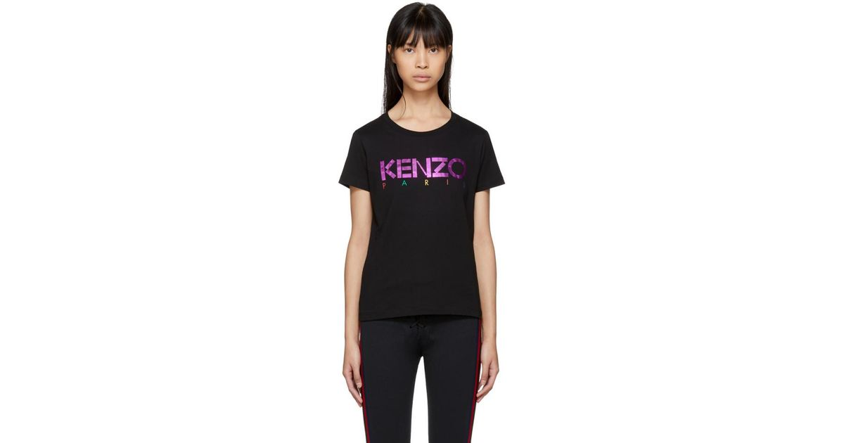 b542bb7a Kenzo Black Limited Edition Holiday Logo T-shirt in Black - Lyst
