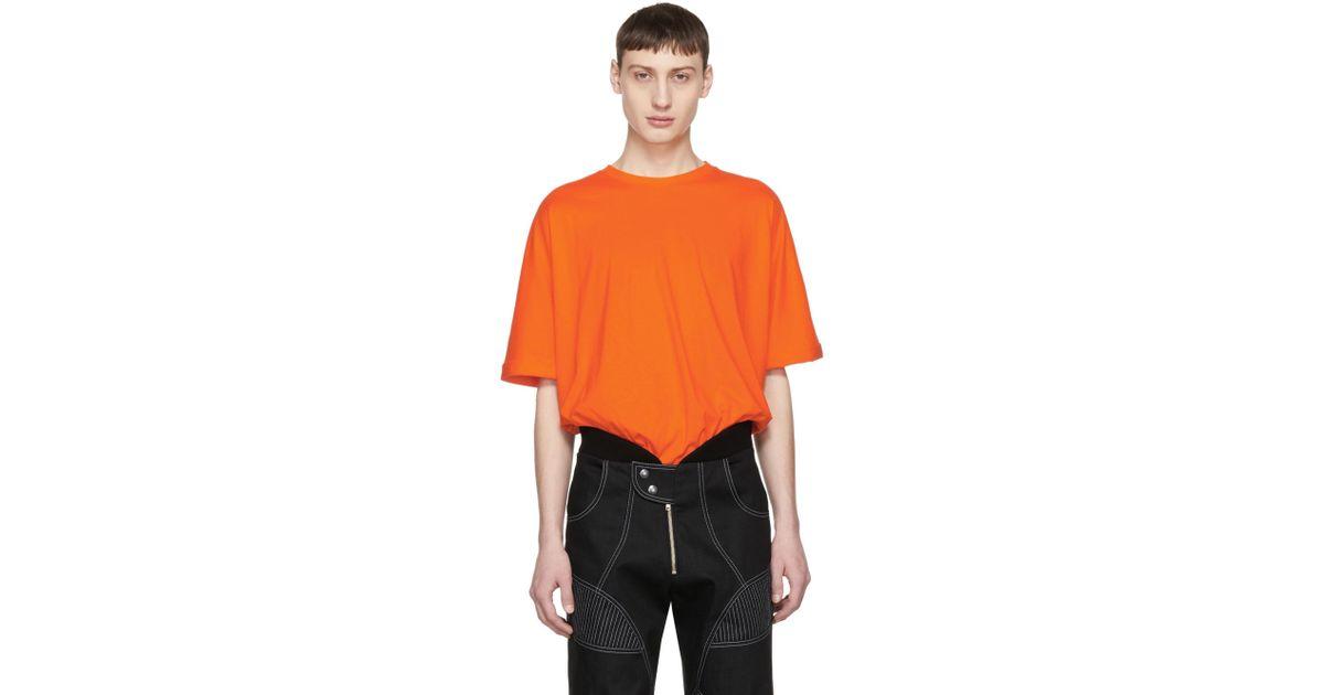 de única Lyst camiseta Helmut naranja hombres extragrande manga Exclusiva para Lang Ssense q8Pwxf8XO