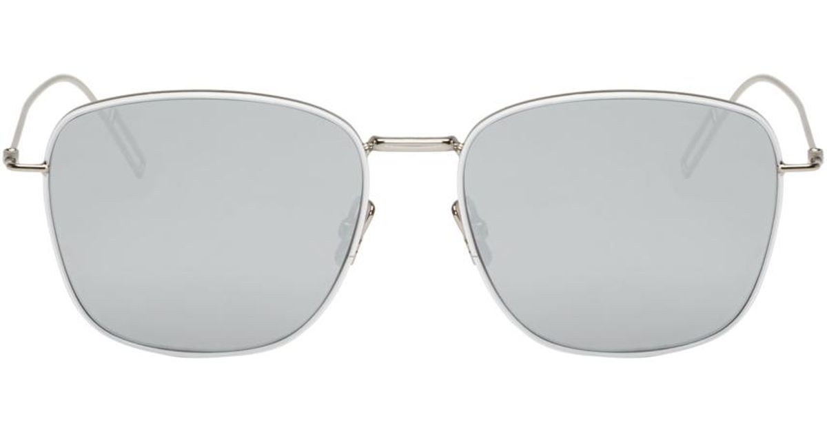 7cfb93c2ff Lyst - Dior Homme Silver Composit 1.1 Sunglasses in Metallic for Men