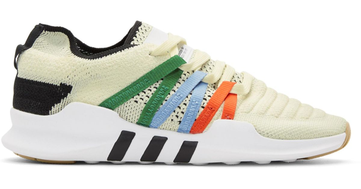 ccac13fa80d5 Lyst - adidas Originals Off-white Eqt Racing Adv Pk Sneakers in White