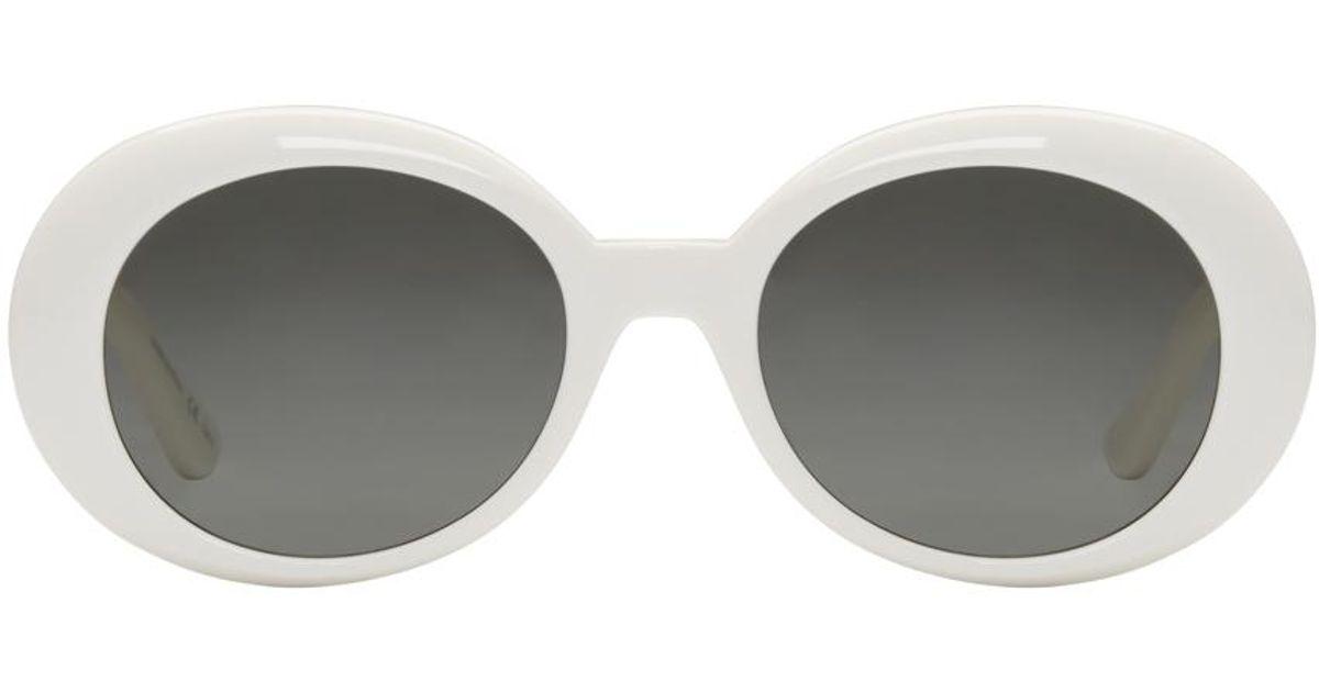 0c67e5430cb6 Saint Laurent Ivory Sl 98 California Sunglasses in White for Men - Lyst