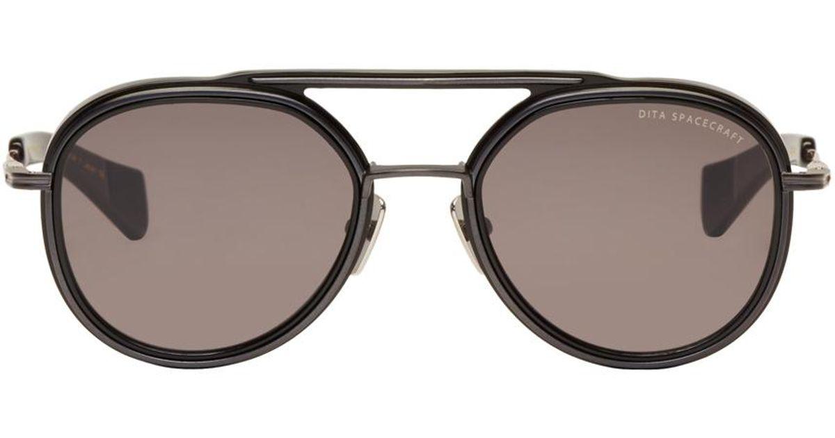 b75605243f Dita Black Spacecraft Aviator Sunglasses in Black for Men
