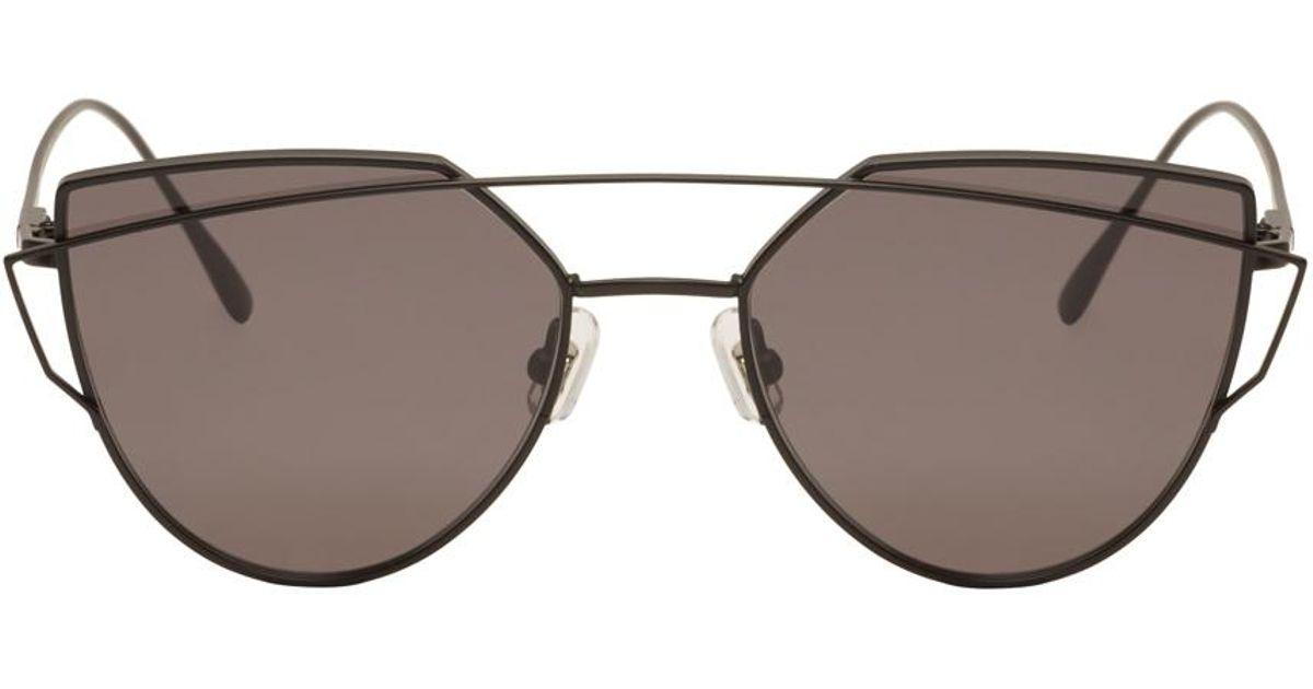 7d2bc82c819 Lyst - Gentle Monster Black Love Punch Sunglasses in Black