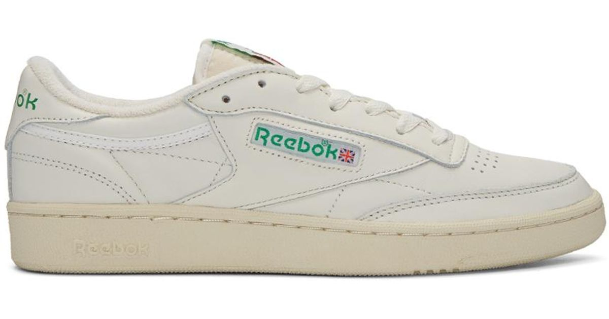 8e2bbfe791bf03 Reebok Ivory Club C 85 Vintage Sneakers in White for Men - Lyst