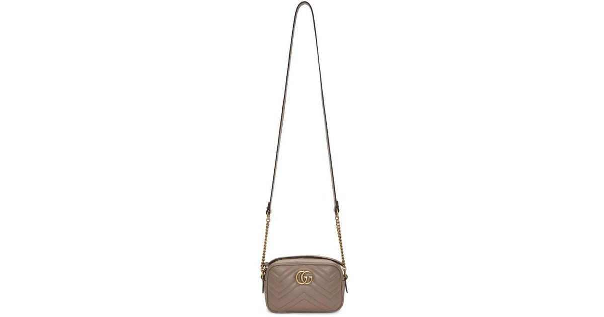 d12174132bd733 Gucci Pink Mini Gg Marmont 2.0 Camera Bag in Pink - Lyst