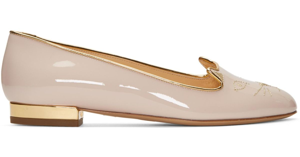 cheap sale official choice online Charlotte Olympia SSENSE Exclusive Pink Satin Kitty Slippers cheap online store Manchester twqakPRX