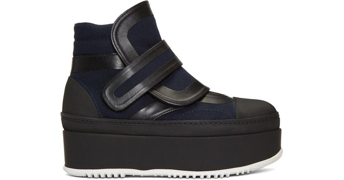 Marni - Black Velcro Platform Boots Women