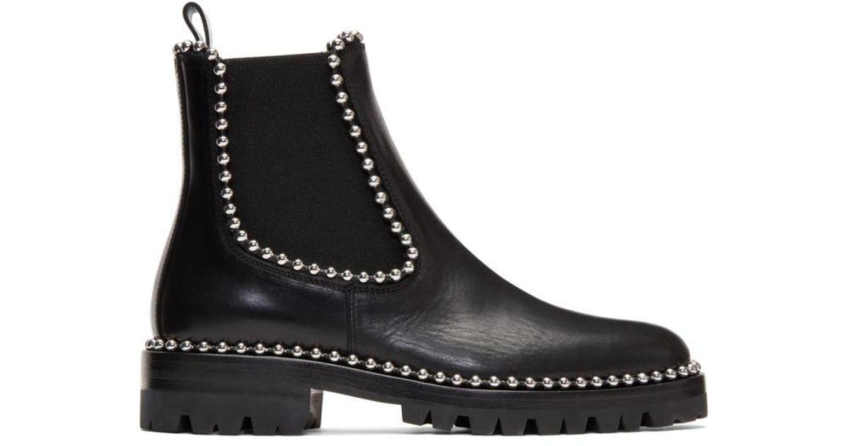bonne vente magasins d'usine double coupon Alexander Wang - Black Spencer Chelsea Boots - Lyst