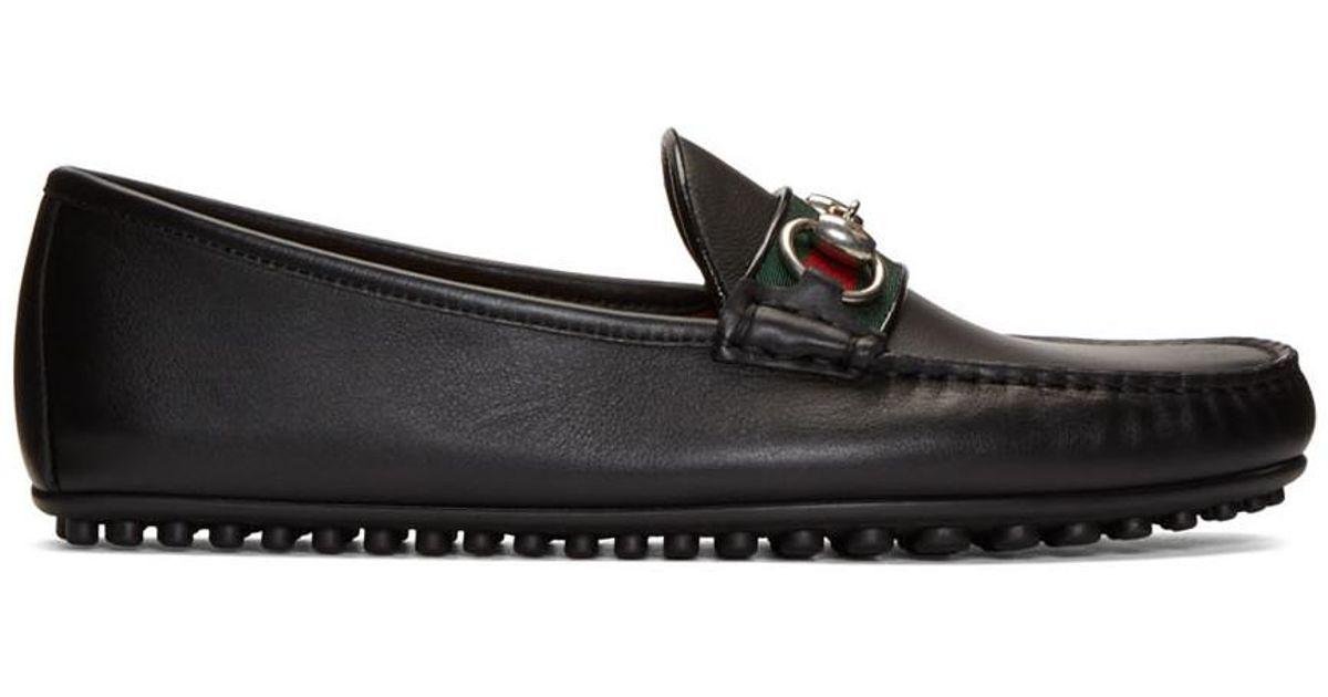 746ec7984 Gucci Black 'kanye' Driving Loafers in Black for Men - Lyst