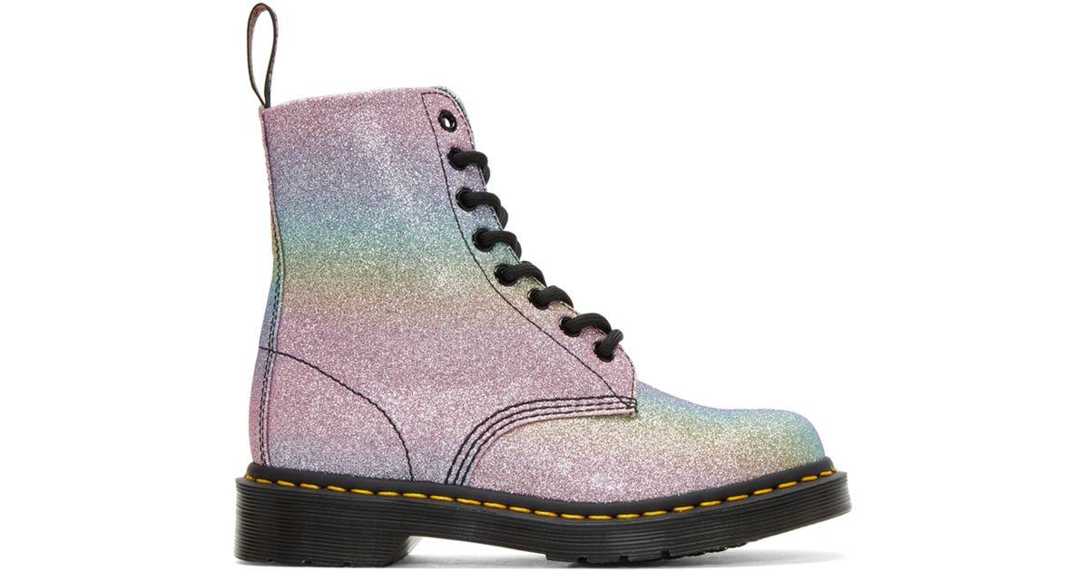 Dr. Martens Multicolor Pascal Rainbow Glitter Boots - Lyst be8c23e85018