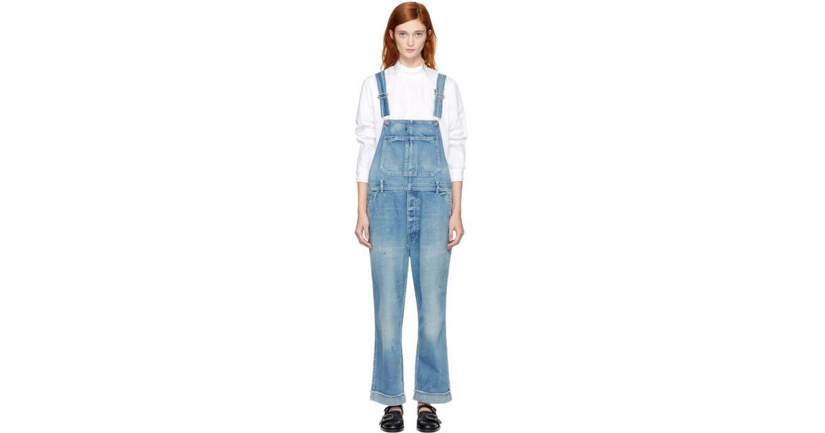 17d82d83780 Lyst - Chimala Indigo Denim Overalls in Blue