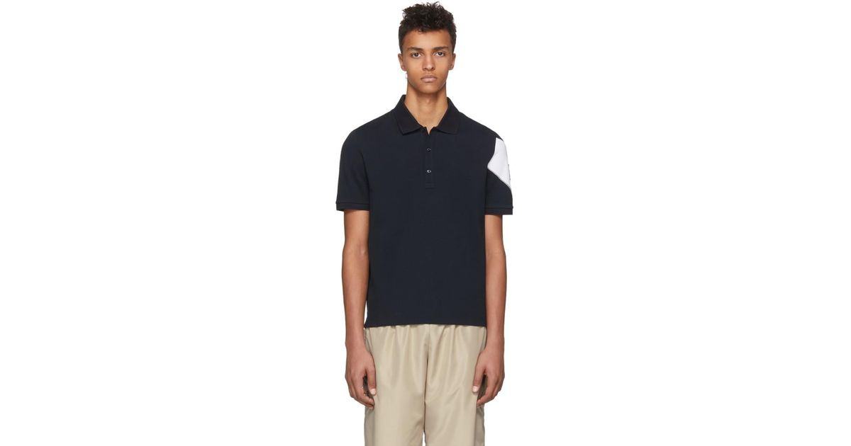 fb9adbf91 Moncler Gamme Bleu Navy Chevron Polo in Blue for Men - Lyst