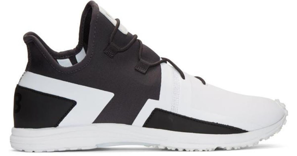 4e4f329f3574b Lyst - Y-3 Black   White Arc Rc Sneakers in Black for Men