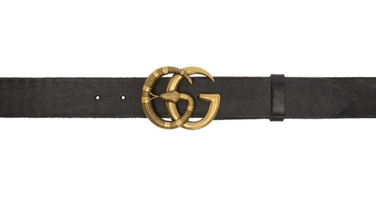 15af350ced9 Gucci Black Gg Snake Belt in Black for Men - Lyst