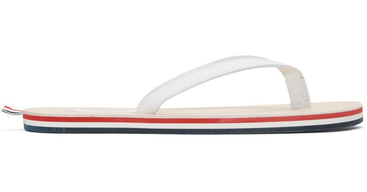Thom Browne White Leather Sandals 6jz8EkehG
