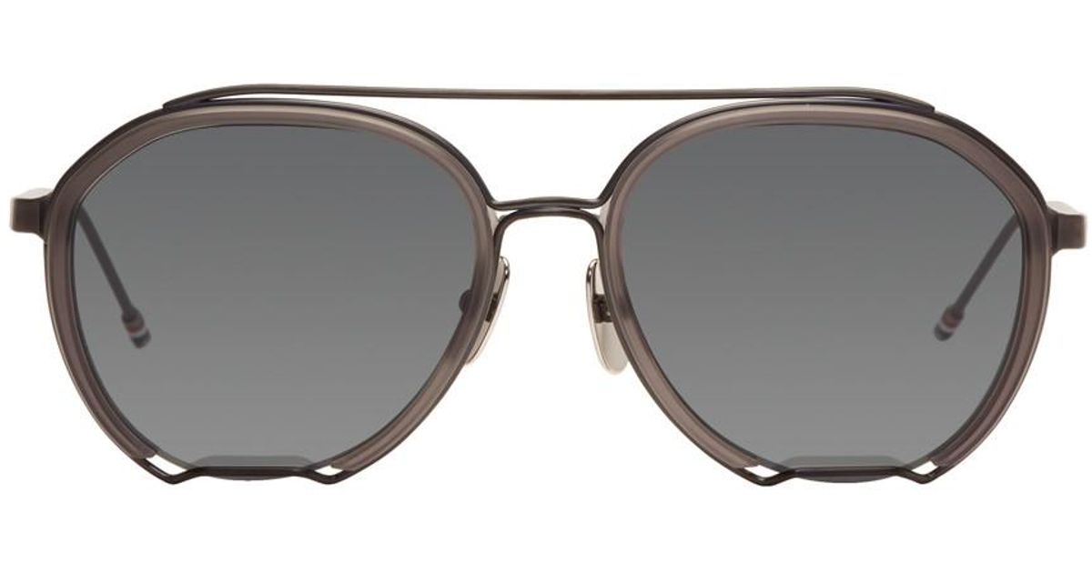 3e0158e4cf1 Thom Browne Grey Tb-810 Sunglasses. in Gray - Lyst