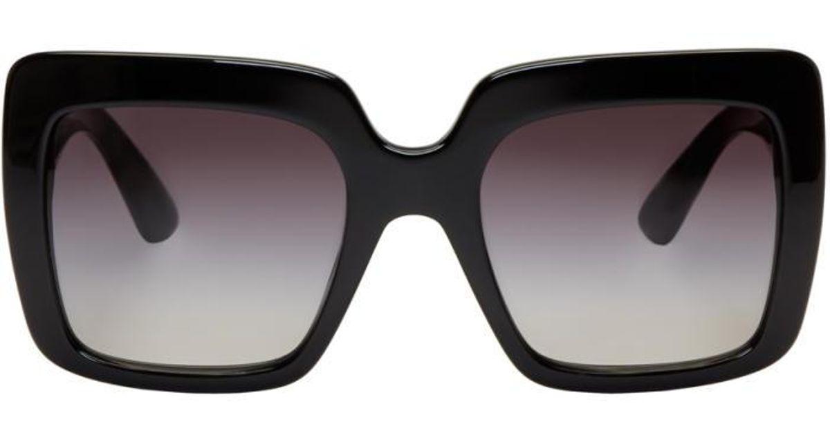 8e9cd8fd055f Lyst - Dolce   Gabbana Black Square Sunglasses in Black