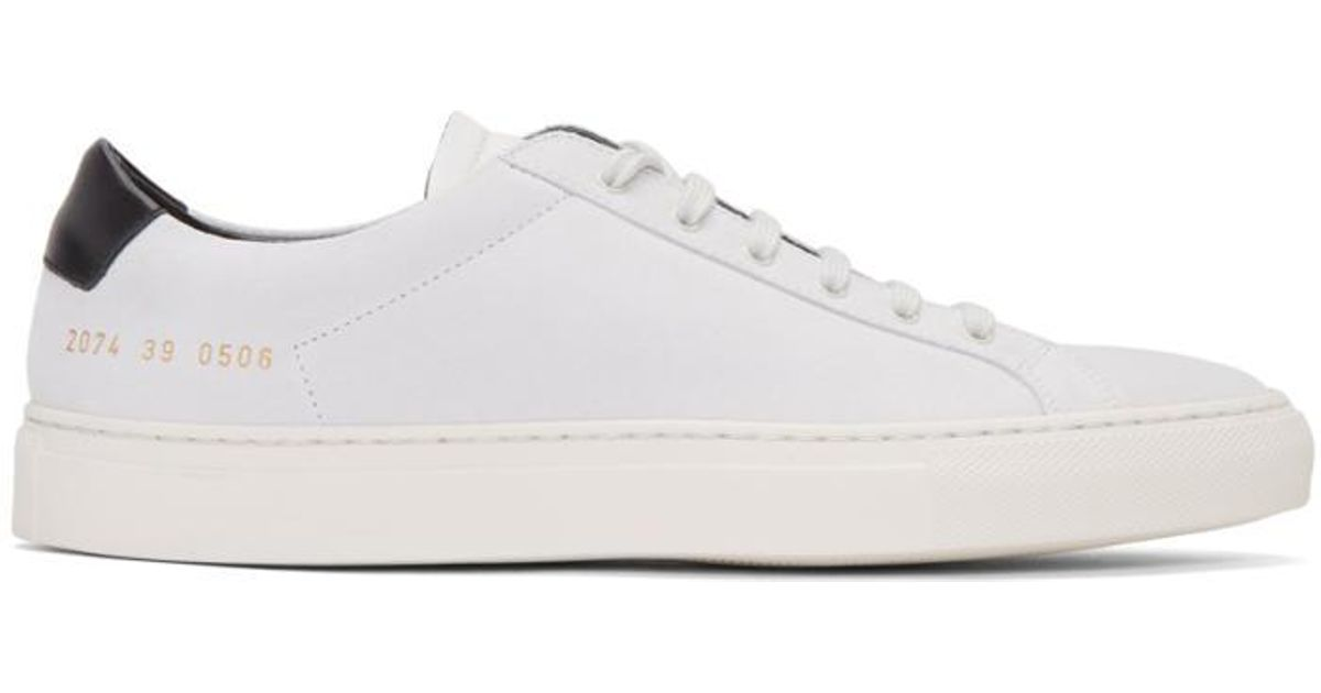 e2aa834ab1253 Lyst - Common Projects White Suede Achilles Retro Low Sneakers in White for  Men