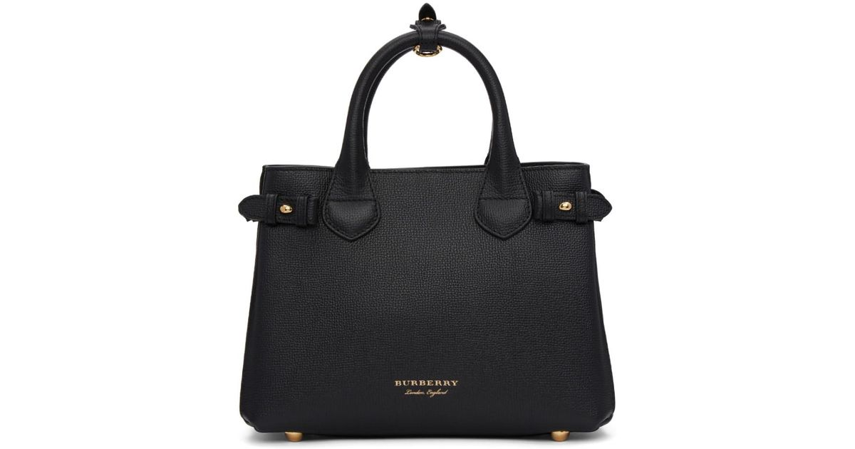 d9fbc8f7 Burberry Black Small Banner Tote in Black - Lyst