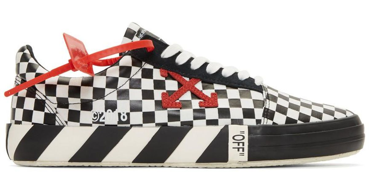 a23424ddff78 Lyst - Off-White c o Virgil Abloh Black And White Check Vulc Sneakers in  Black for Men