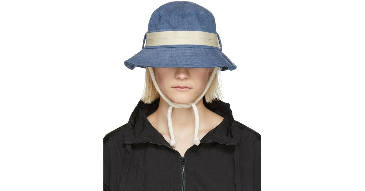 Lyst - Acne Studios Blue Sun Sun Bucket Hat in Blue 36c3fa0d1d22