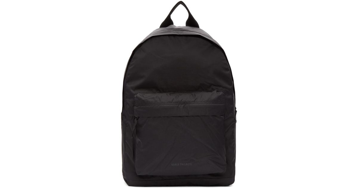 b3af5b33034 Lyst - Norse Projects Black Nylon Day Pack Backpack in Black for Men