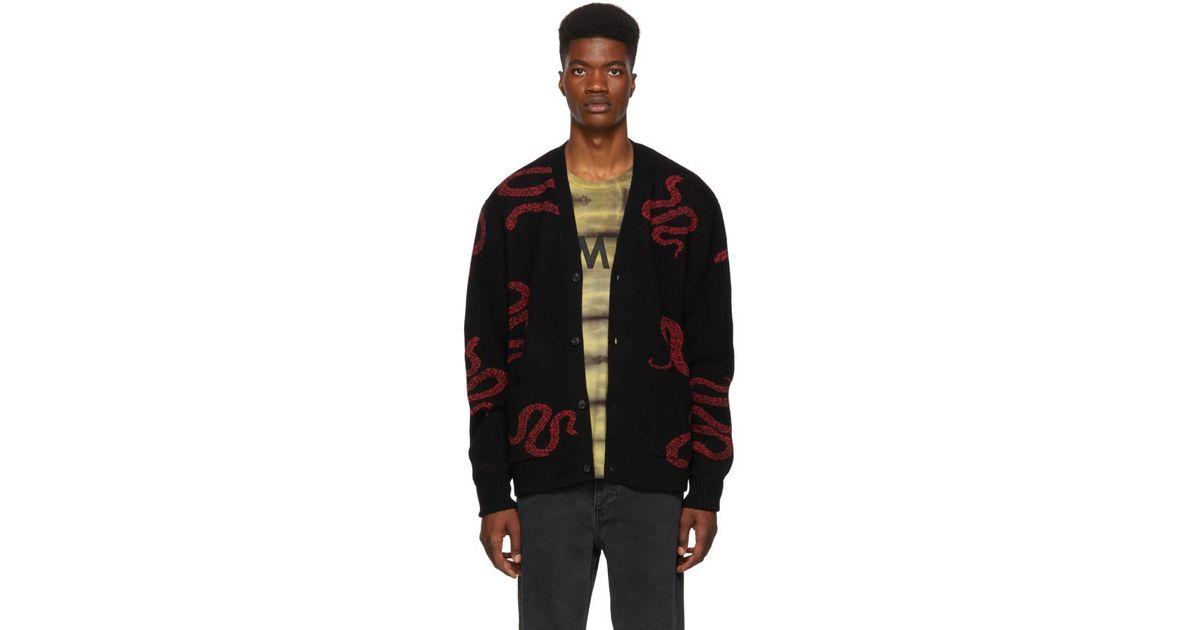 Cardigan Snake Black Cashmere For Men Amiri In Lyst 48SvWR6H8