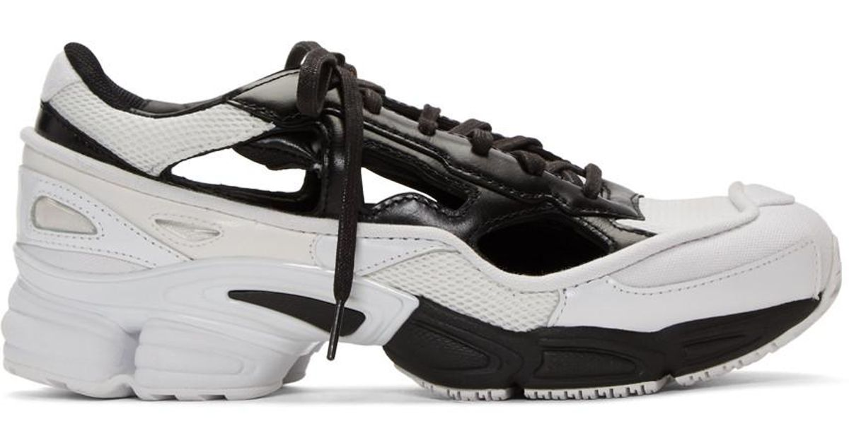 7dc556220571 Lyst - Raf Simons Black And White Adidas Originals Edition Ozweego  Replicant Sneakers in Black for Men