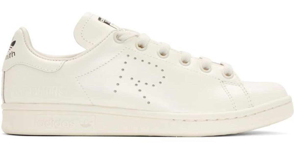 9e15be8eabb06 Lyst - Raf Simons Off-white Adidas Originals Edition Stan Smith Sneakers in  White