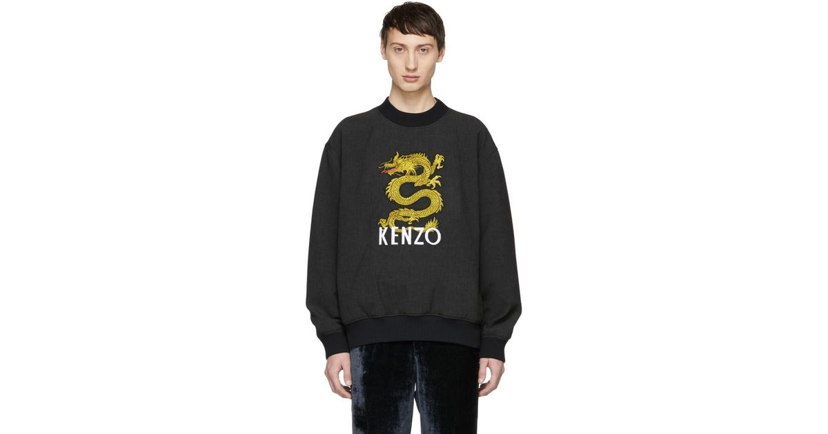 d36da379 KENZO Grey Dragon Sweatshirt in Gray for Men - Lyst