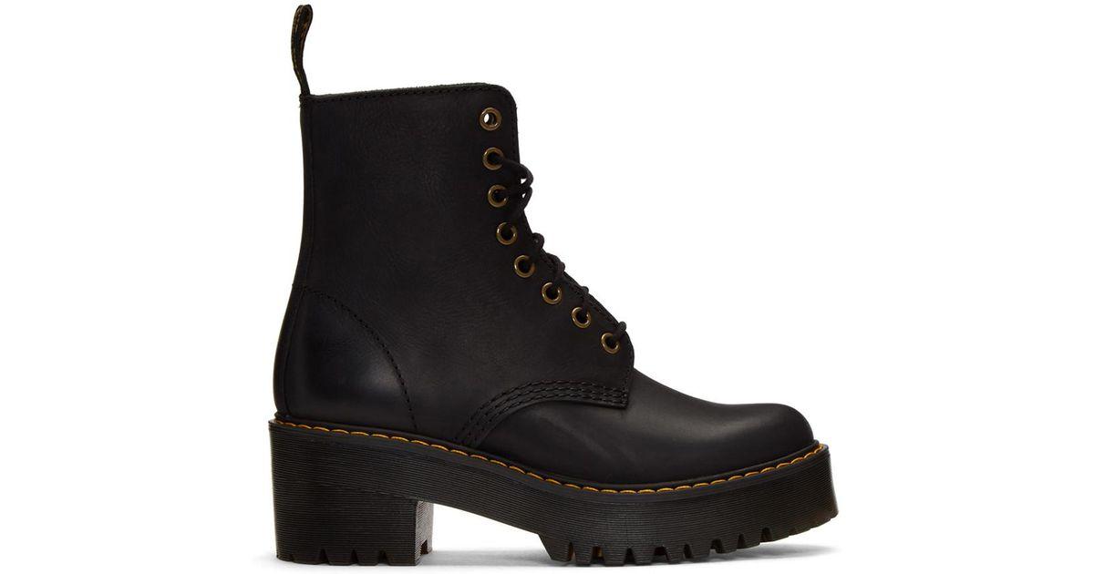 Dr. Martens Black Shriver Hi Boots in Black - Lyst 14d9c56138