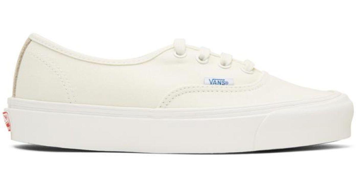 63c68229e6 Lyst - Vans Off-white Og Authentic Lx Sneakers in White for Men