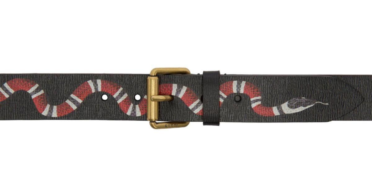 9981835754a Lyst - Gucci Black Snake Belt in Black