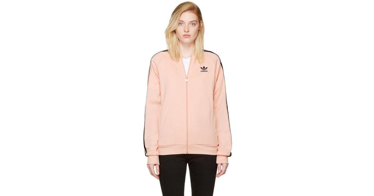 Lyst adidas superstar giacca rosa tracce originali