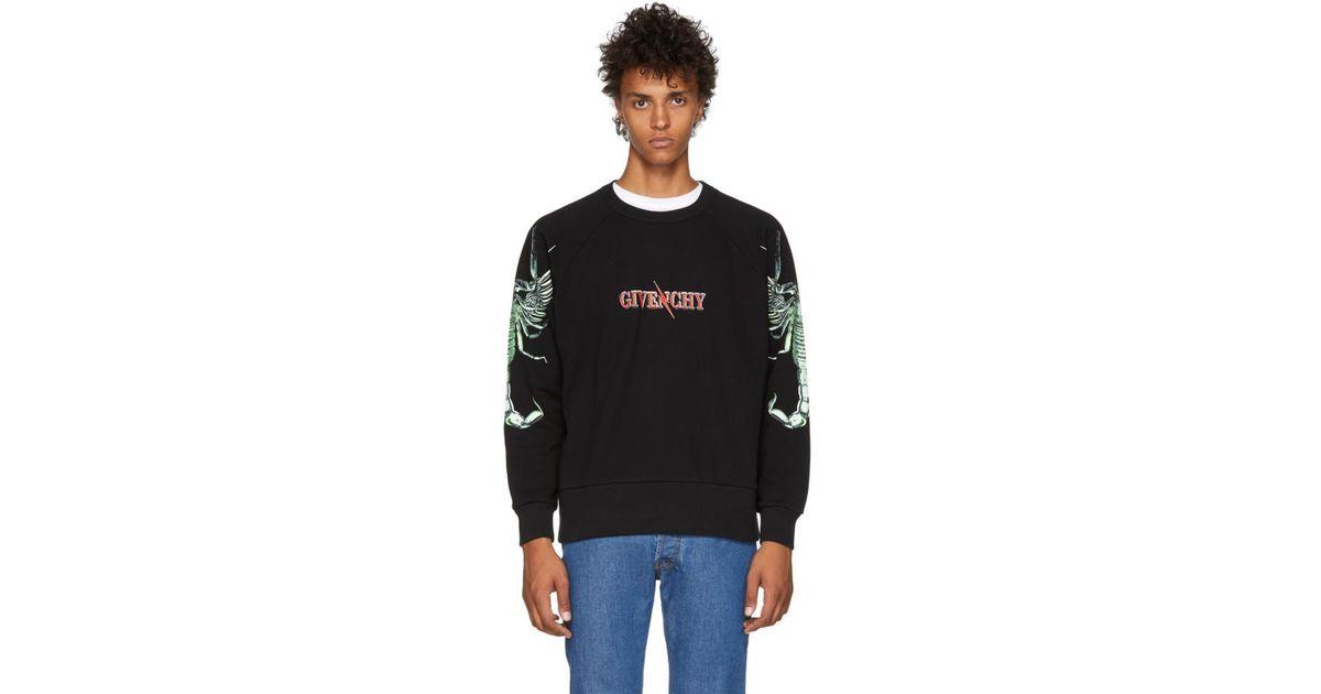 c2aab0e1258 Lyst - Pull molletonne a logo noir Scorpion Givenchy pour homme en coloris  Noir