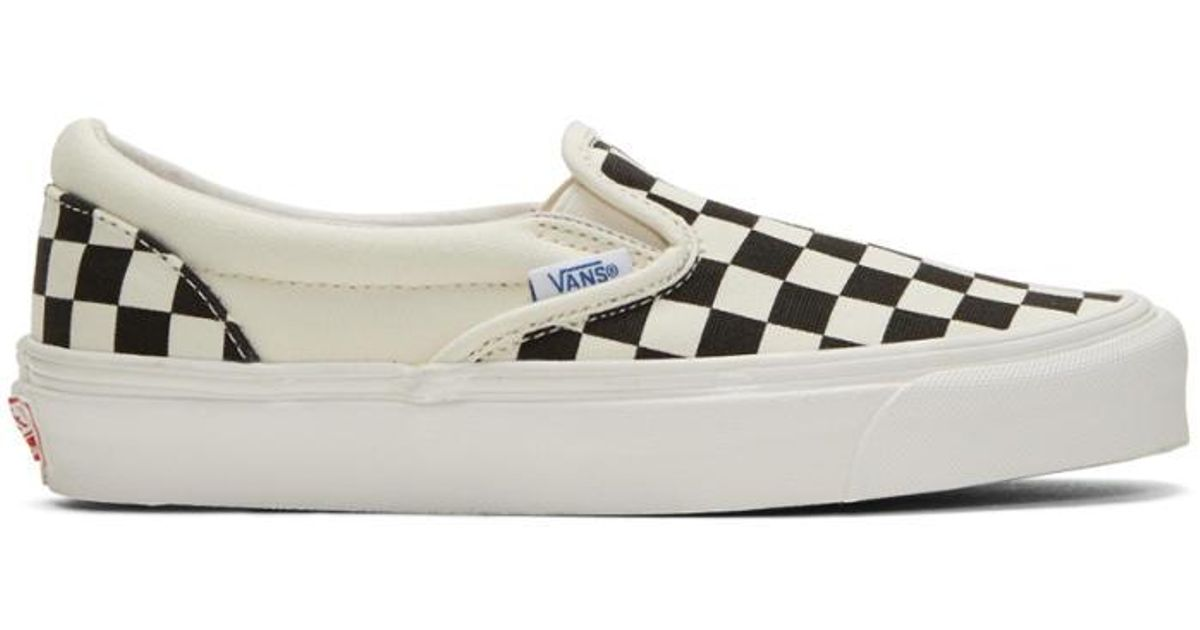 Read more Off-White & Black Check OG Classic Slip-On Sneakers XfZyiOLE