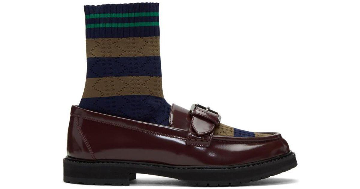 35de7d20754 Lyst fendi brown scuba sock loafers in brown jpg 1200x630 Fendi loafers