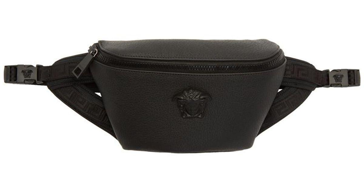 Lyst - Sac-ceinture en cuir noir Medusa Versace pour homme en coloris Noir ab40a6c74c5c