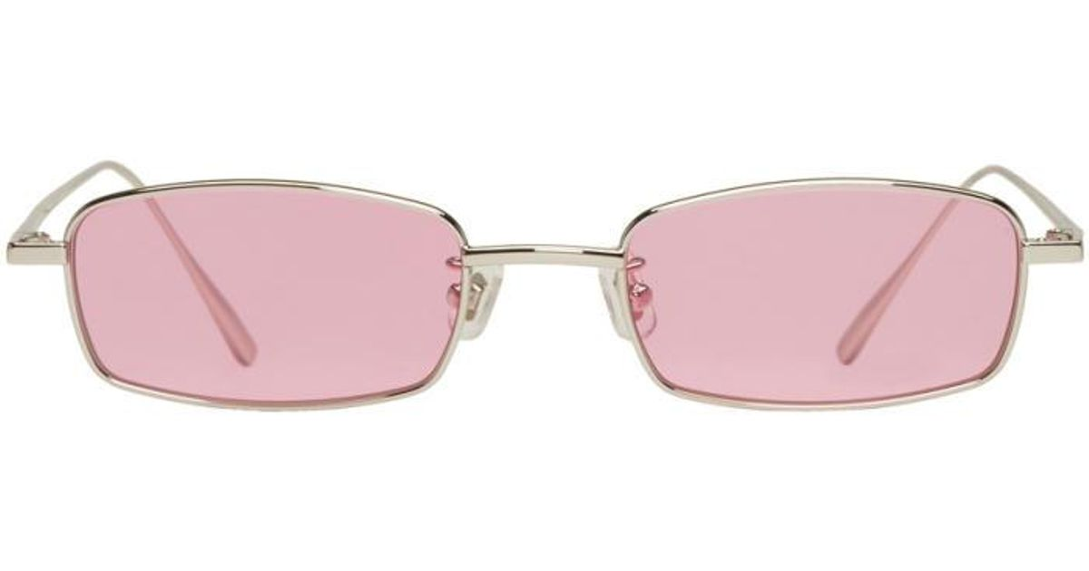 dc2dfe6e810e7 Gentle Monster Ssense Exclusive Silver And Pink Palabra Sunglasses - Lyst
