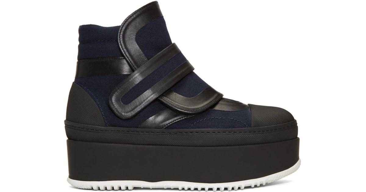 Marni Navy & Black Strap Boots e4ZCR