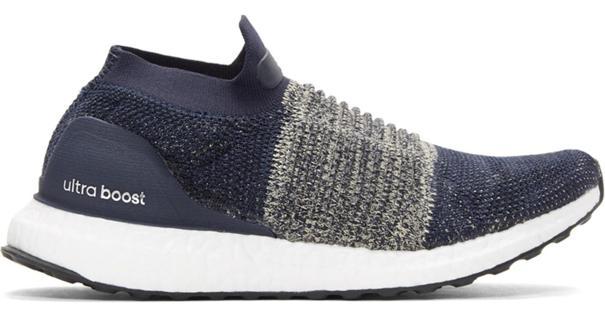 official photos bc96a 92daa adidas Originals Navy Ultraboost Laceless Sneakers in Blue for Men - Lyst
