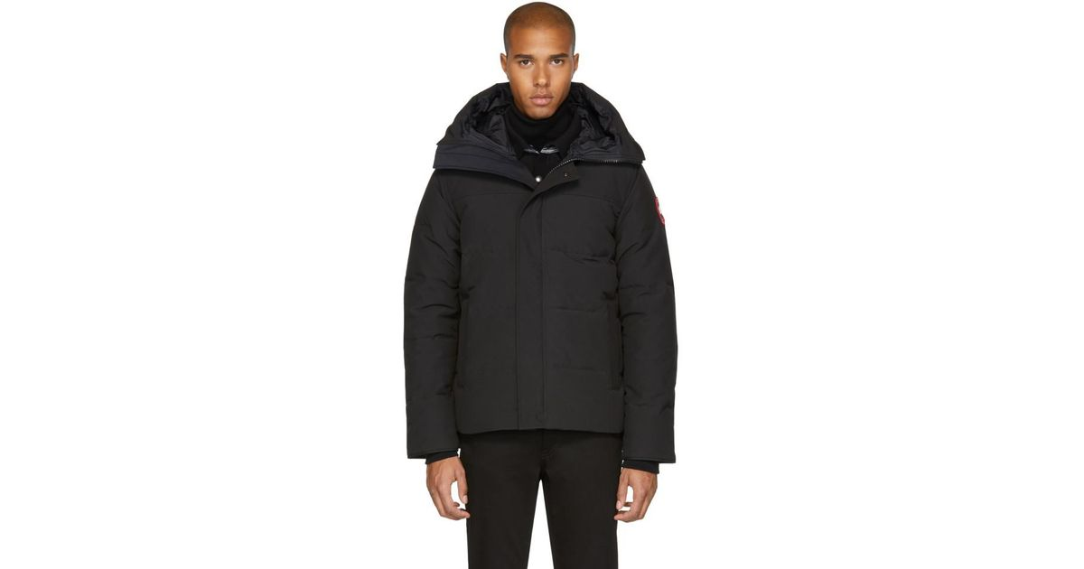 a746dd1b95cf Canada Goose Black Down Macmillan Parka in Black for Men - Lyst