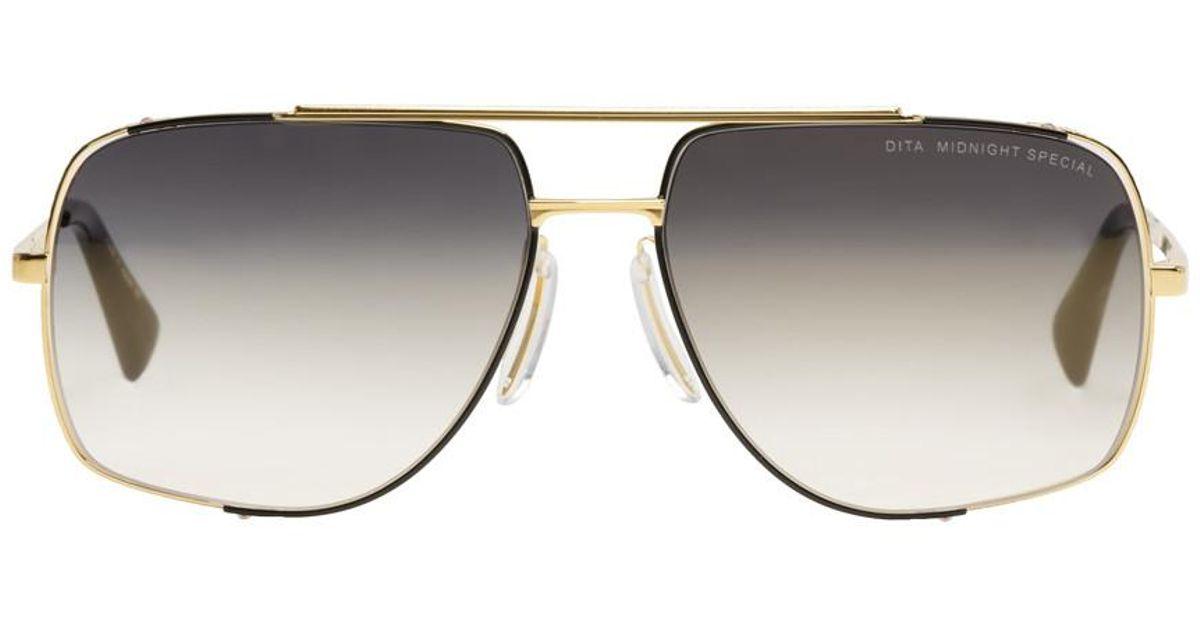 1636aa7ce617 Lyst - DITA Gold Midnight Special Sunglasses in Metallic
