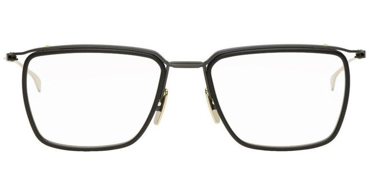 85c358e74a4e DITA Black And Gold Schema-one Glasses in Black for Men - Lyst