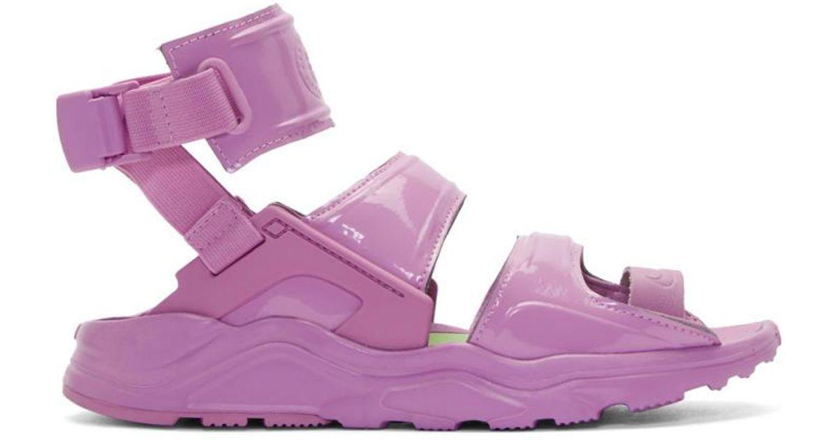 a23d2b31f3e2 Lyst - Nike Purple Air Huarache Gladiator Sandals in Purple