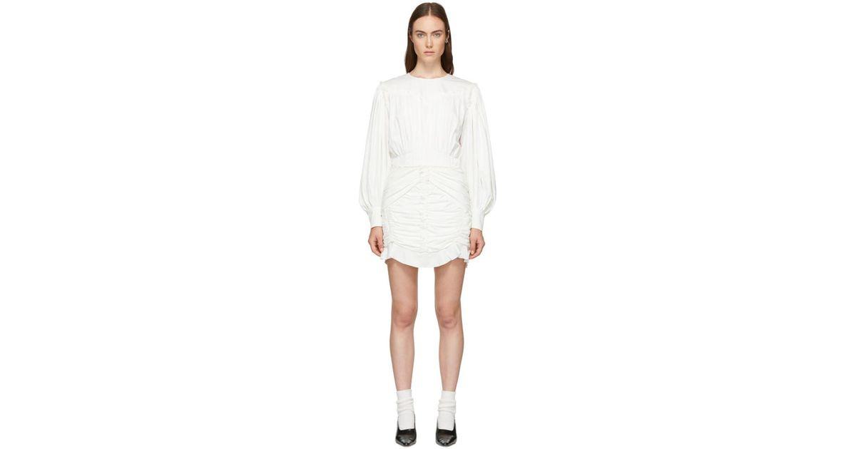 En Coloris Isabel Marant Blanche Lyst Robe Unice Blanc Nmn0wOv8