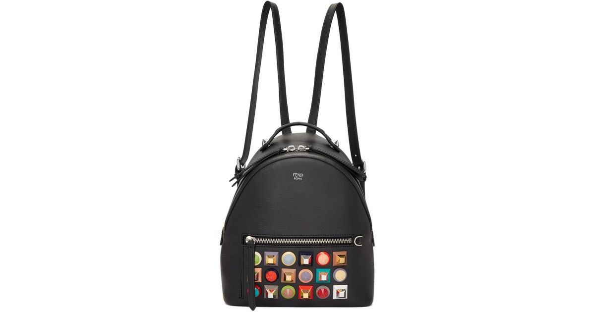 76bb5793be Fendi Black Mini Rainbow Zaino Backpack in Black - Lyst