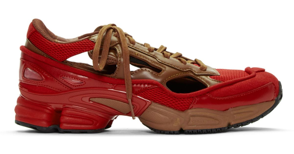8af12458542b Lyst - Raf Simons Red And Brown Adidas Originals Limited Edition Replicant Ozweego  Sneakers Anniversary Pack in Red for Men