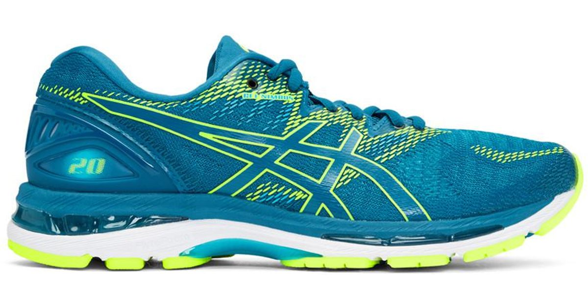 1db8ed519c49 Lyst - Asics Blue And Green Gel-nimbus 20 Sneakers in Blue for Men