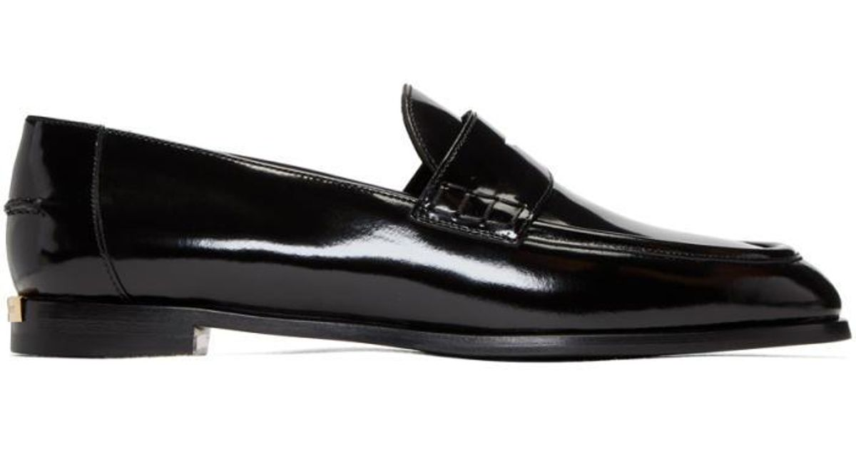 3d867c8f6f7 Lyst - Burberry Black Oban Loafers in Black